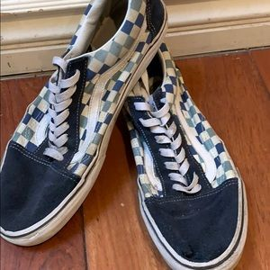 Vans blue and white casual skate shoes